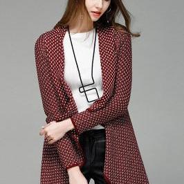Patchwork Irregular Long Sleeves V-..