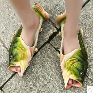 Unique Fish Shape Peep Toe Slippers..
