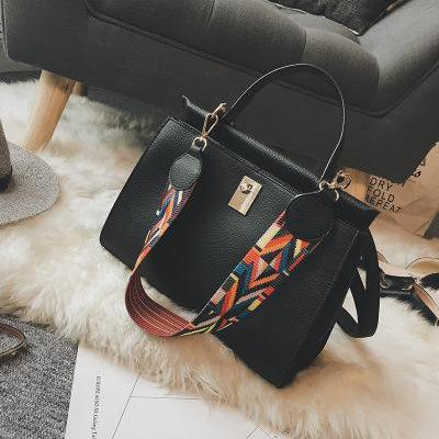 Colorful Belt-Decoration Women Tote..