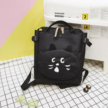 Casual Solid Color Zipper Backpack