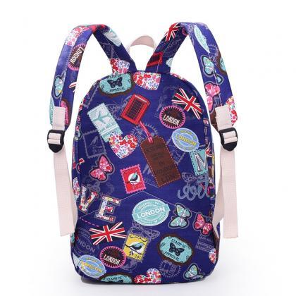 Best Seller Print Backpack Canvas S..