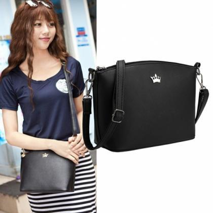 Synthetic Leather Mini Crossbody an..