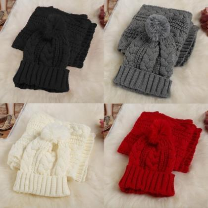 Fashion Women Girl Winter 2pcs Warm..