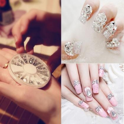 New Nail Art Tips Crystal Glitter R..