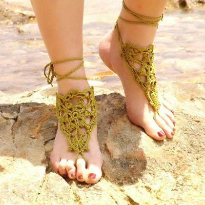 New Fashion Women's Crochet Barefoo..