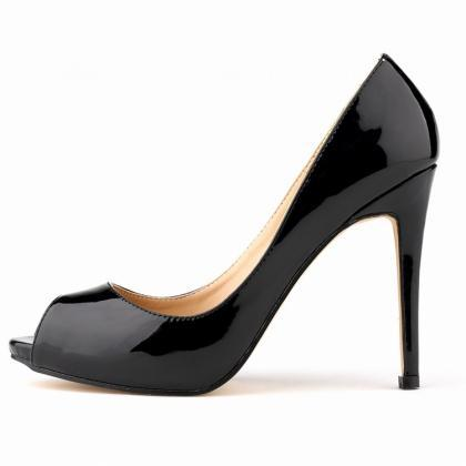 Patent Leather Peep-Toe High Heel S..
