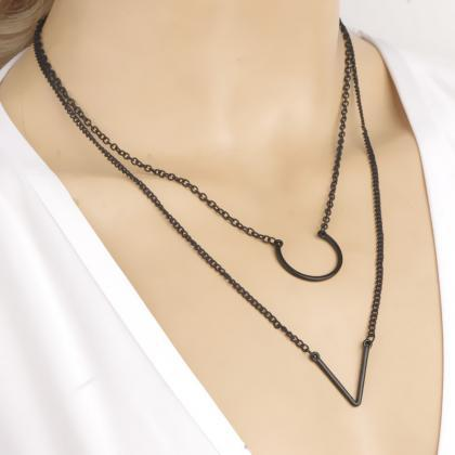 Fashion Simple Geometric Triangle N..