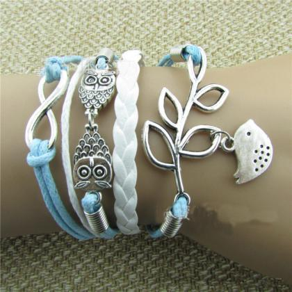 Romance Olive Branch Bird Owls Brac..