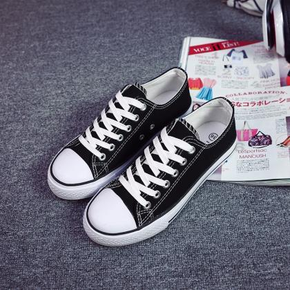 Classic Lace Up Couple Canvas Sneak..
