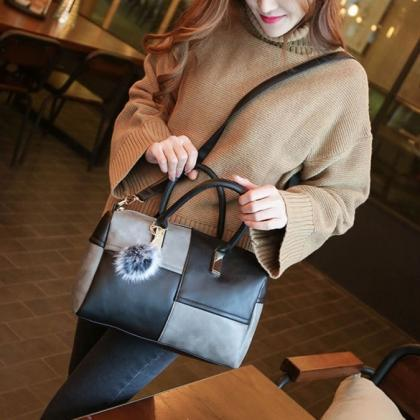 Women Fashion Synthetic Leather Han..