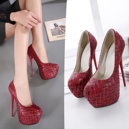 Ultra Stiletto Heel Weavas Print Jo..
