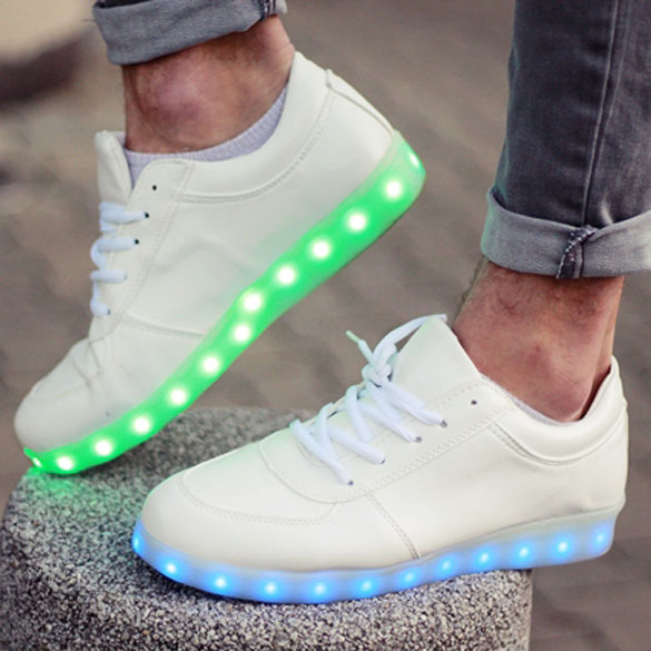 Athleisure 7-Colour LED-Embedded Sneakers