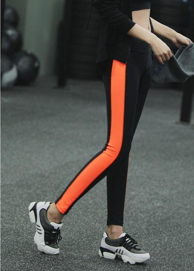High Waist Pathwork Skinny Slim Elastic 9/10 Yoga Sport legging