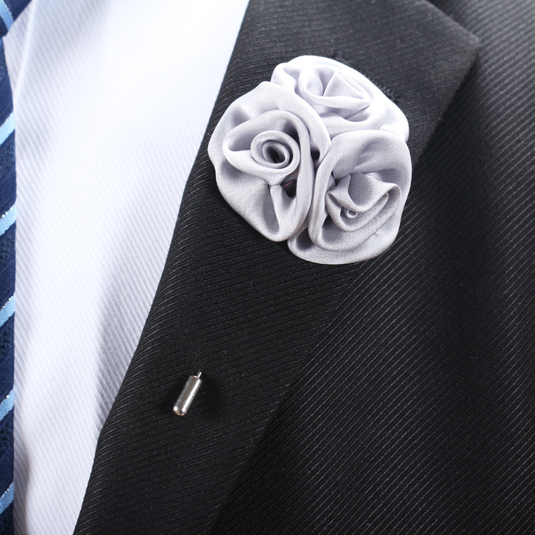 Men's fashion collar Rose Brooch
