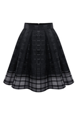 2017 Pleated Perspective Net Yarn Organza Skirts