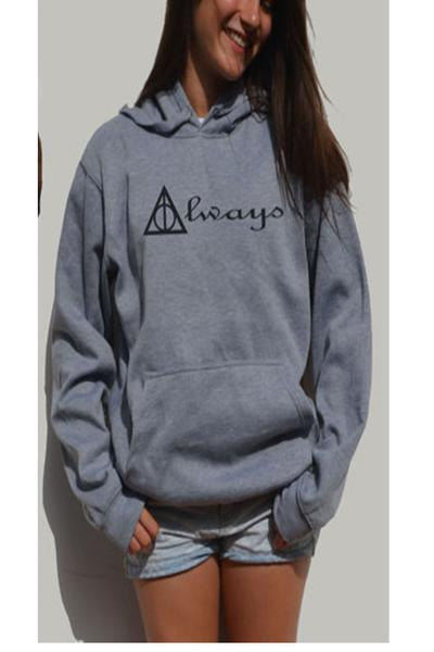Back and Front Letter Print Pocket Hoodie