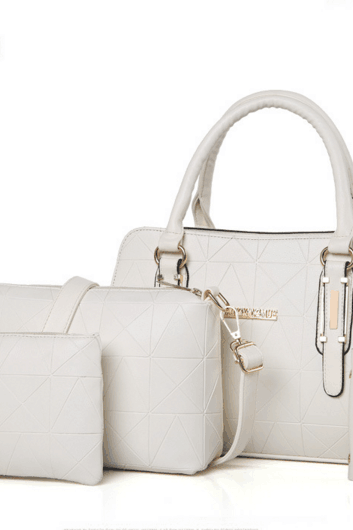Graceful Concise Solid Color Women Bag Set