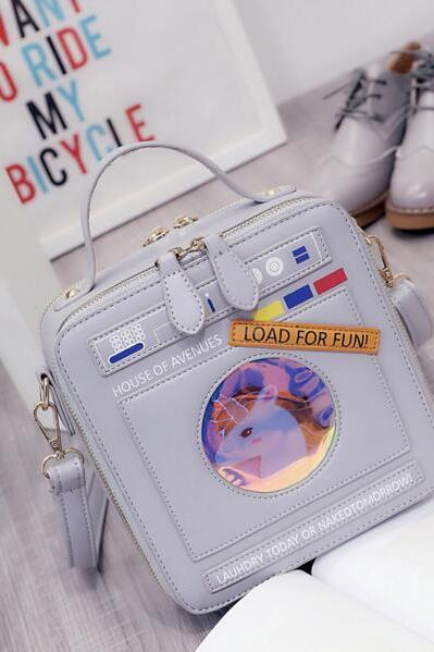 Nifty Cartoon Design Crossbody Bag