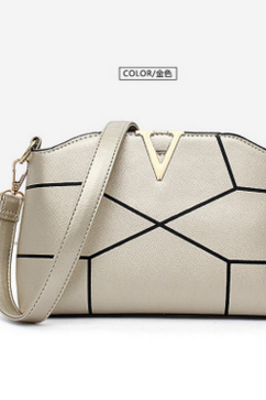 Stylish Thread Zipper Crossbody Bag
