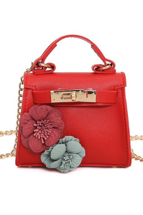 Elegant Floral Decoration Chain Cross Body Bag