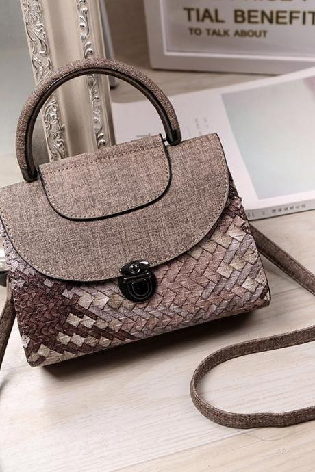 Distinctive Woven Design Women Handbag
