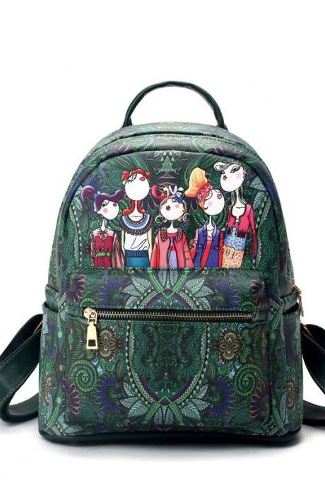 Personalized Printing PU Backpack