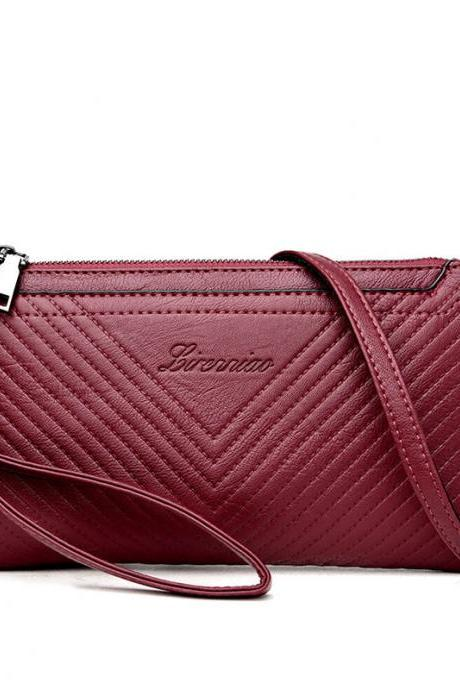 Fashion Embossing Zipper Women Crossbody