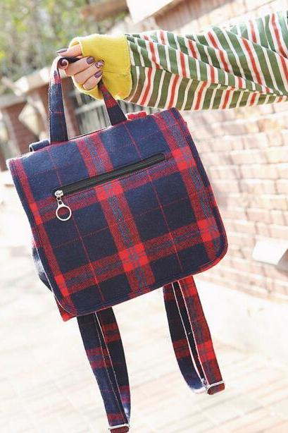 Casual Plaid Color Block Women Tote