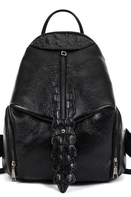 Occident Style Croco-Embossed Women Backpack