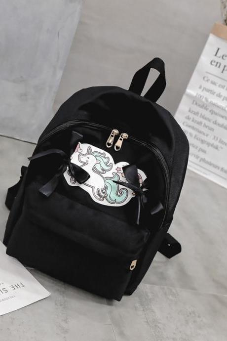 Casual Prints Soft PU Women Backpack