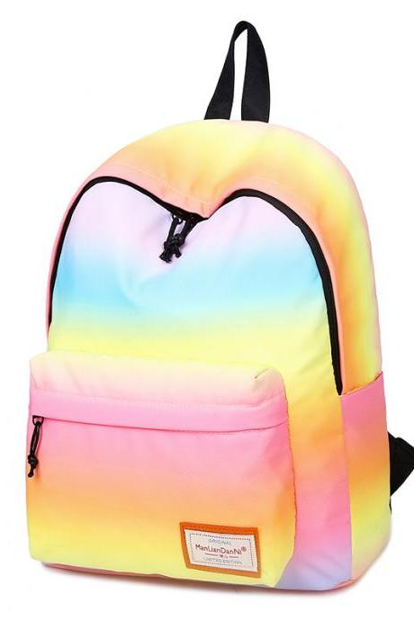 Trendy Gradient Color Unisex Backpack