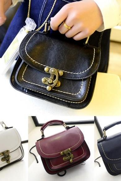 Fashion Women Synthetic Leather Small Flap Handbag Shoulder Bag Messenger Bags