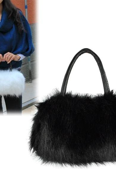 Winter Mini Lovely Fur Leather Handbag Shoulder Bag