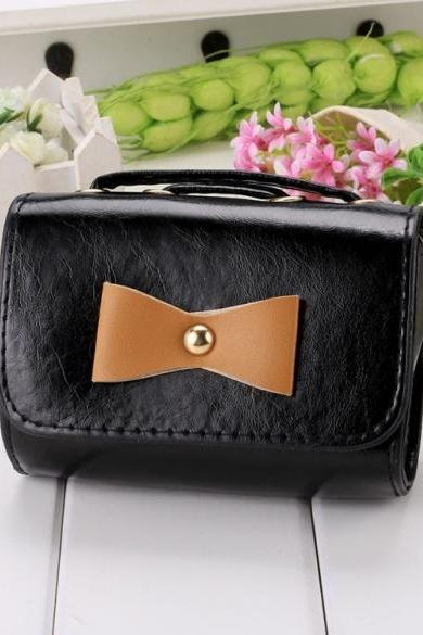 New Fashion Korean Women's Bow Mini Tote Clutch Handbag Shoulder Bag Cross Bag