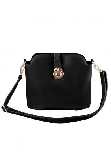 New Fashion Lady Women's Artificial Leather Bucket Bag Crossing Bag Hand Bag Shoulder Bag