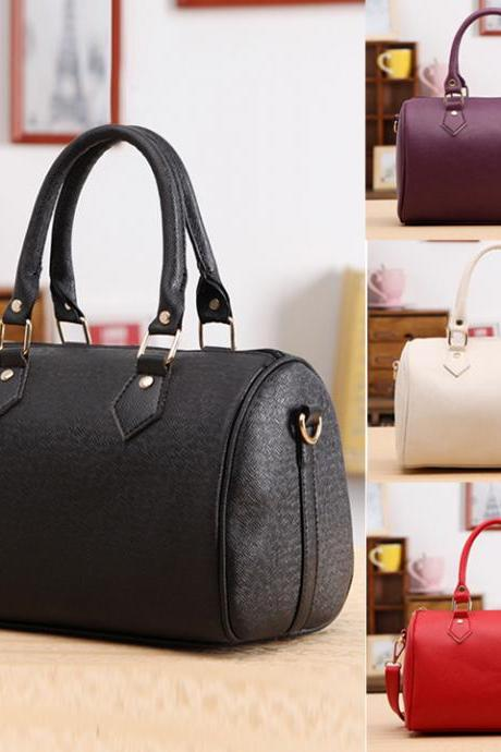 Women Synthetic Leather Handbag Satchel Shoulder Bags Tote Messenger Bag 4 Colors