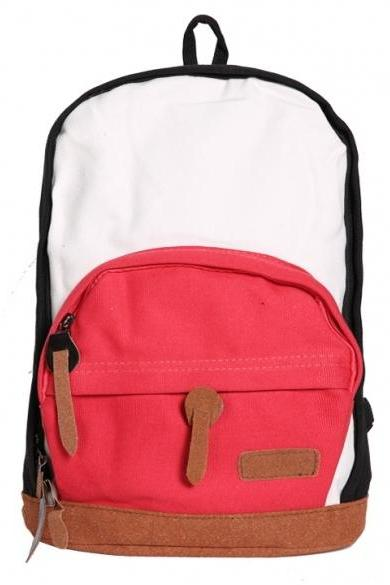 New Women Colorful Classic Canvas Backpack Bookbag School Bag Rucksack Shoulder Bag