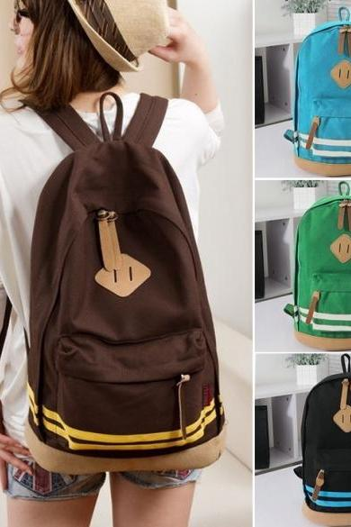 Unisex Travel Backpack Canvas Leisure Bags School bag