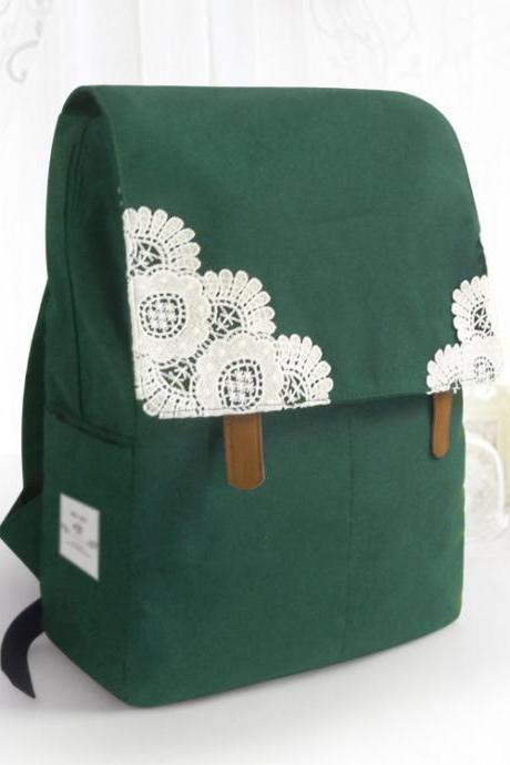 Lace Folder Cover Belt Buckle Backpack Bag