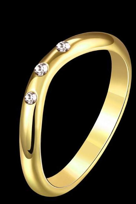 Simple personality with crystal ring