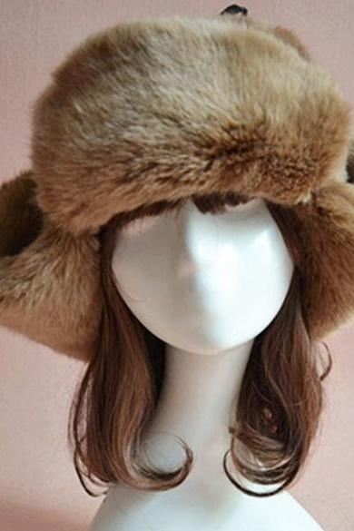New Fashion New Faux Fur Hat Cap For Winter Fuzzy Cap