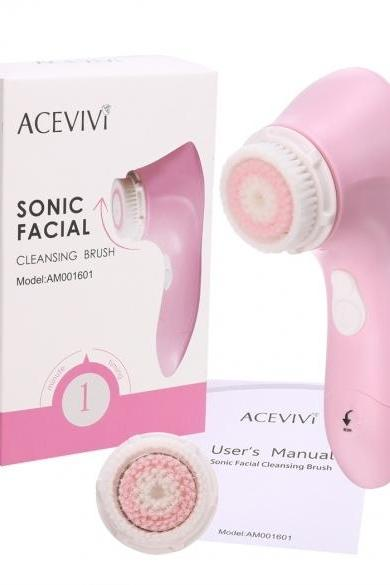 ACEVIVI Waterproof Portable Size Sonic Face Facial Cleaning Brush Cleaner