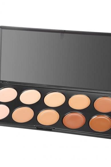 Acevivi 10 Colors Professional Makeup Face Cream Concealer Palette Kit