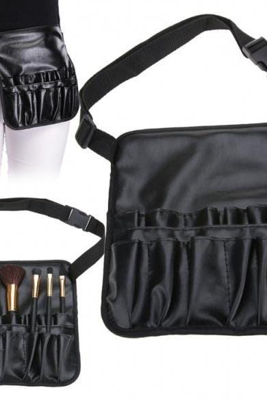 Black Professional Artist Essential Makeup Brush Belt Pocket Bag