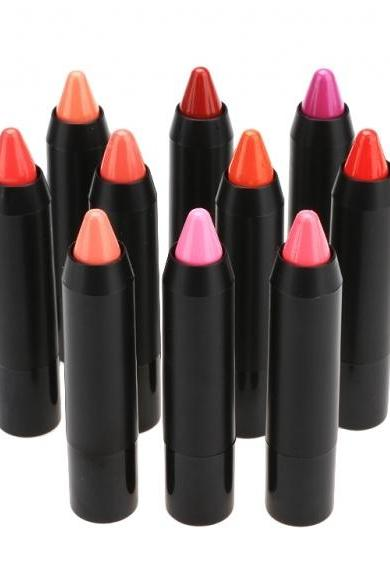 New Candy Color Lipstick Pencil Lip Gloss Lipsticks 12 Optional Colors