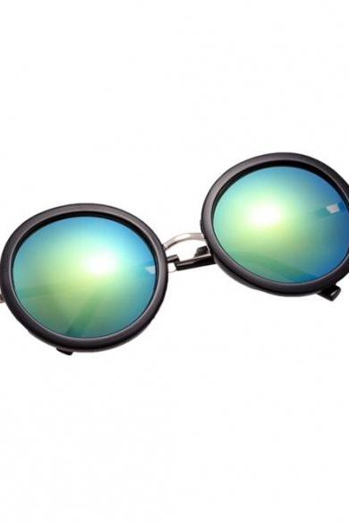 Hot Fashion Vintage Style Unisex Round Lens Gradient UV Protective Casual Outdoor Sunglasses