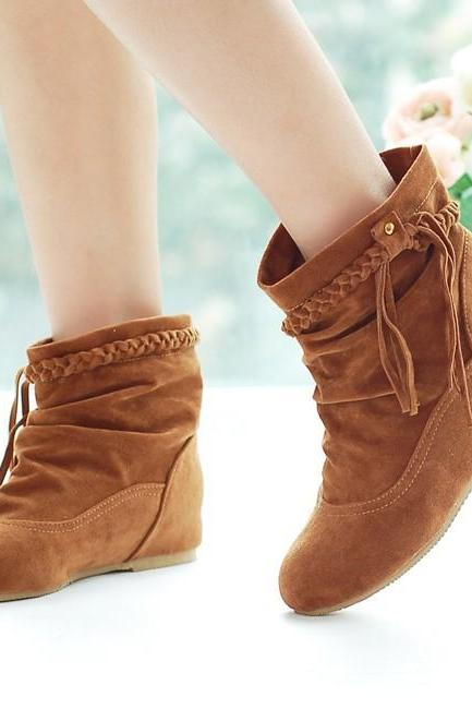 Fashion Fall Trendy Tassel Short Boots