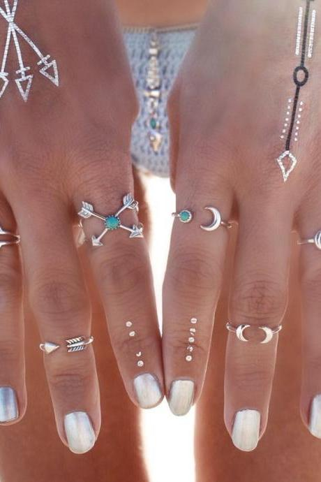 Exaggerated Restoring Geometry Trigonometry Arrow Ring