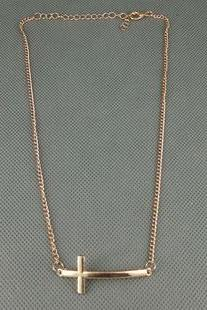 Simple Short Cross Female Necklace