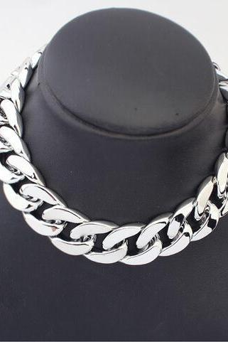 Thick Chain Joker Chain Necklace